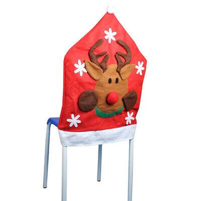 Elk Deer Hat Chair Covers Christmas Home Decor Dinner Seat Chair Xmas Cap ()