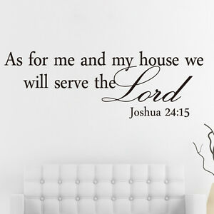 Joshua 2415 Bible Verses Lord Quote Saying Wall Decal Vinyl Sticker Home Decor