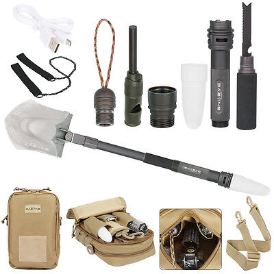 Military Universal Multi-function Folding Shovel Emergency Survival Tools