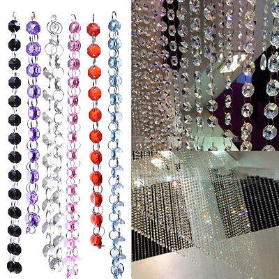 3.3FTGarland Diamond Strand Acrylic Crystal Bead Curtain Wedding DIY Party Decor