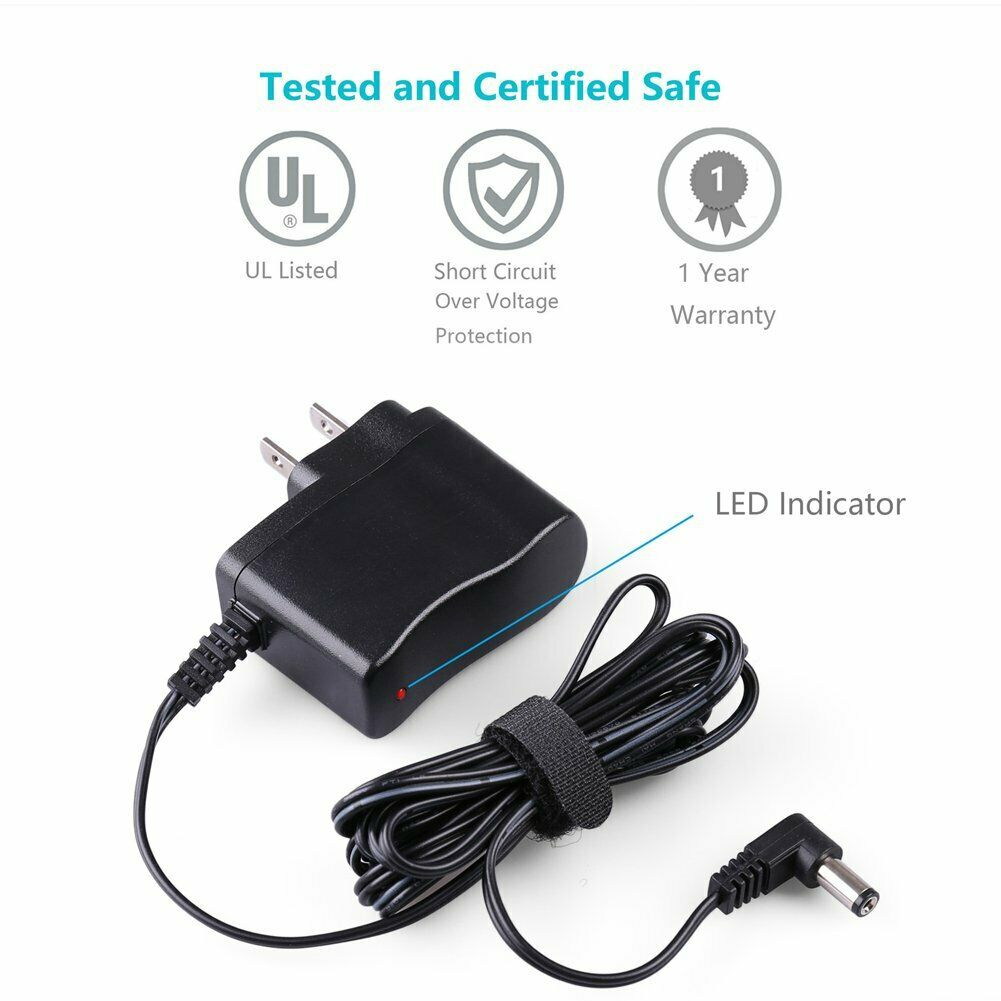 yan AC//DC Wall Charger Power Supply Adapter Cord for Casio CTK-481 Keyboard