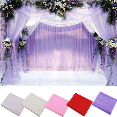 - New Crystal Tulle Fabric Organza DIY Craft for Wedding Party Decor Supplies 5m