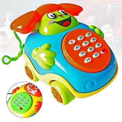Fun Musical Educational Cartoon Phone Developmental Music Toys for Baby Kid LEほみ