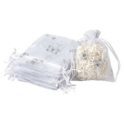 "100 Drawstring Organza Bags Butterfly Enlace Party Wedding Favor Pouch 4.7""x3.9"""