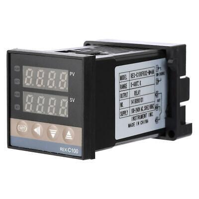 Digital Pid Temperature Controller Rex-c100fk02-man K-type Thermocouple Sensor