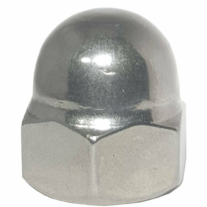 M6 x 1.0 Acorn Hex Cap Nut Grade A2 18-8 Stainless Steel Qty 25