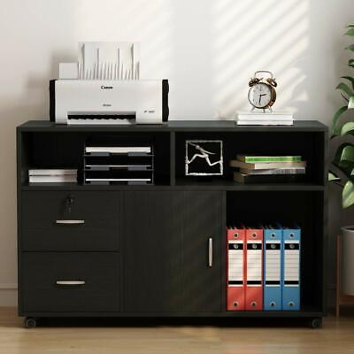 2-drawer Vertical Filing Cabinet For Home Office Modern Style Cabinet With Wheel