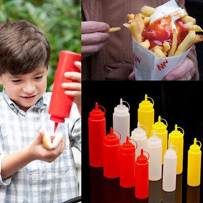 Cucina Plastic Squeeze Bottle Condimenti Erogatore Oliera Salsa Aceto Ketchup