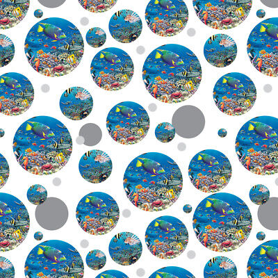 Ocean Coral Reef Angel Fish Garden Diving Premium Gift Wrap Wrapping Paper Roll