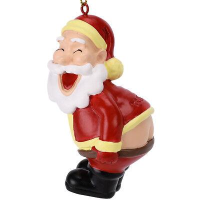 Tree Buddees Funny Mooning Santa Claus Christmas Tree Ornament Funny Fun Xmas