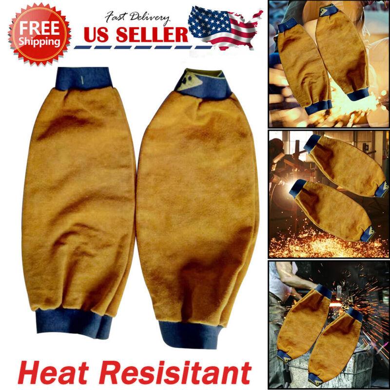 Heat Resistant Welding Sleeves Mechanic Arm Sleeves Spark Resistant Protection