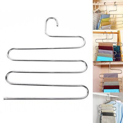 5 In 1 Multi-Layer Pants Trouser Hanger Storage Rack Closet Wardrobe Organizer