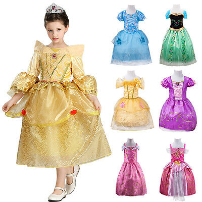 Girls Princess Fairy Christmas Costume Outfits Party Fancy Dress Up Clothes Kids - Christmas Fairy Costume