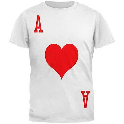 Halloween Ace of Hearts Card Soldier Costume All Over Adult T-Shirt - Ace Of Hearts Costume