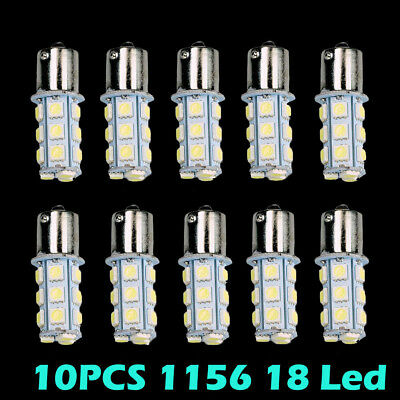 HOTSYSTEM 10xCar RV White 1156 BA15S 5050 18smd LED Light Bulb 7503 1141 1073 US - Led Lights Bulk