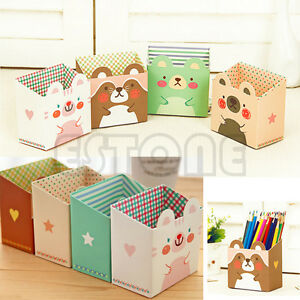 bo te de rangement organizer papeterie papier cartoon maquillage bureau diy. Black Bedroom Furniture Sets. Home Design Ideas
