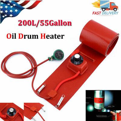 55 Gallon 1000w Silicone Band Drum Heater Oil Biodiesel Metal Barrel Usa
