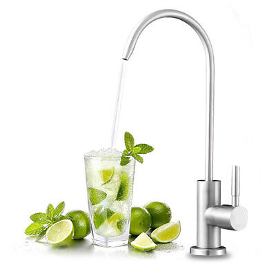 FLG Brushed Nickel Kitchen Faucet Reverse Osmosis Filter Drinking Water -