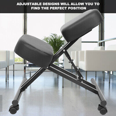 Ergonomic Kneeling Chair Desk Seat Adjustable Stool For Home And Office Relief.
