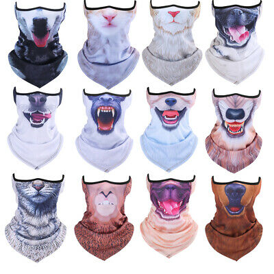 Halloween Dog Cat Animal Pattern Half Face Cover Sports Neck Gaiter Warmer Scarf Neck Scarf Patterns