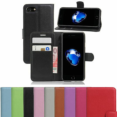 PU Leather Flip Wallet Book Case Cover Pouch For iPod Touch 5 and iPod Touch 6 ()