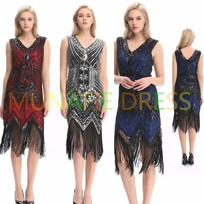 NEW 20s Gatsby 1920s Flapper Dress Party Cocktail Wedding Women's Clothing S M L (20s Clothing Women)