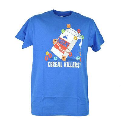 Cerealien Killers Milch Humor Lustig Herren Erwachsene Grafik Blau T-Shirt
