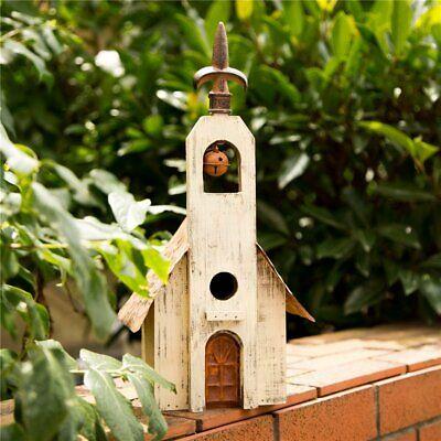 Hanging Decorative Birdhouse - Glitzhome Antique Bell Church Hanging Decorative Birdhouse Garden Bird Nest Cage