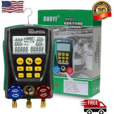 Refrigeration Digital Hvac Manifold Gauge Air Conditioning Leak Detector Meter