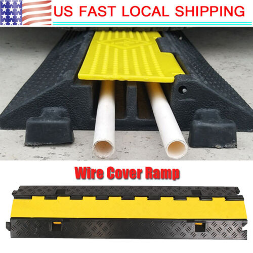 2 Channel Rubber Speed Bump/Car Curb Ramp Parking Lot Garage