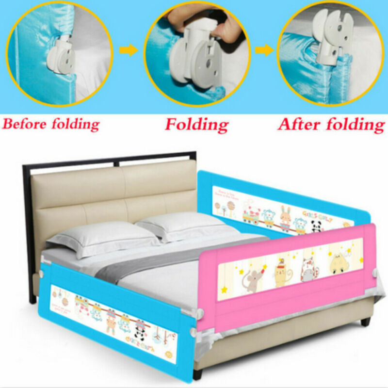 Blue/Pink Safety Bedrail Bed Rail Guard Protection Child toddler Kids Baby 150cm