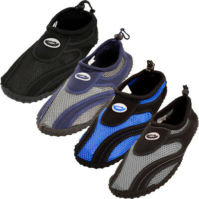 Mens Water Shoes Aqua Socks Slip On Mesh Pool Beach Swim Surf Hike Wet