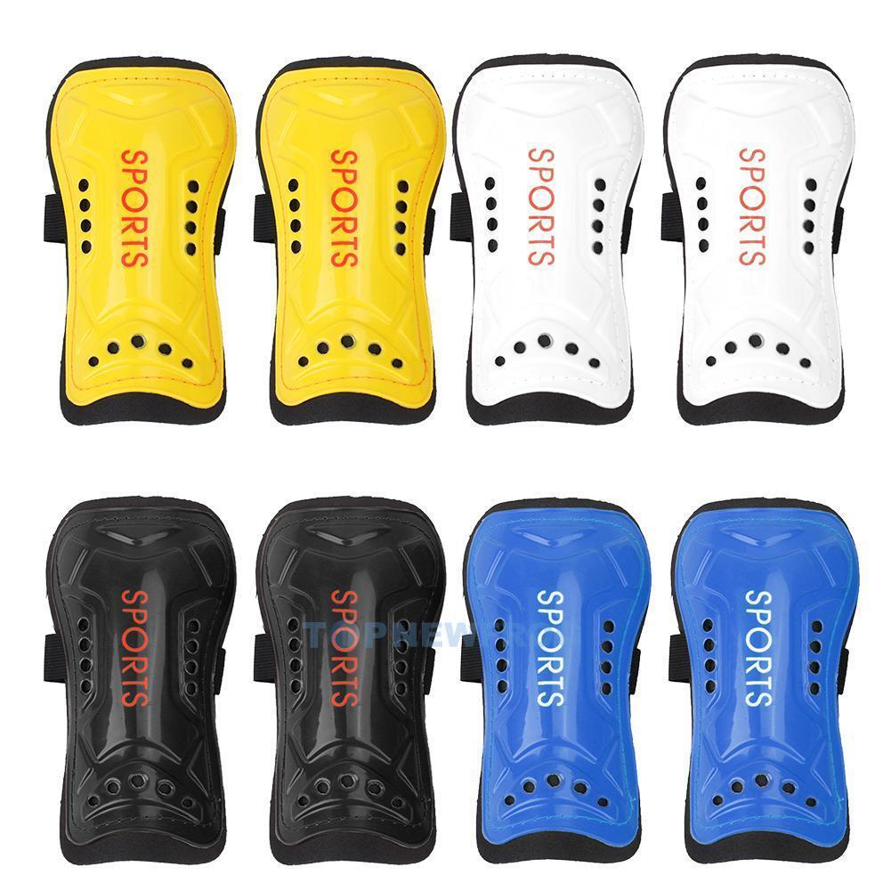 2 x Soft Light Football Soccer Shin Pads Guards Sports Leg P
