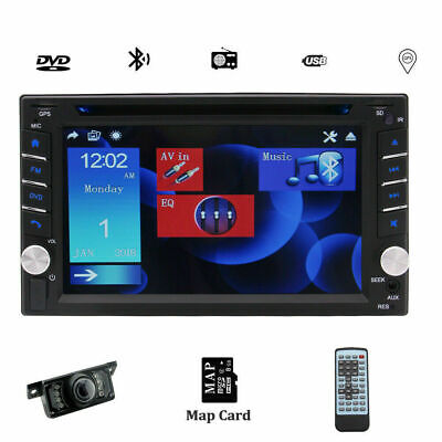 "Double Din In Dash 6.2"" Car DVD Radio Stereo Player GPS Bluetooth+Backup Camera"