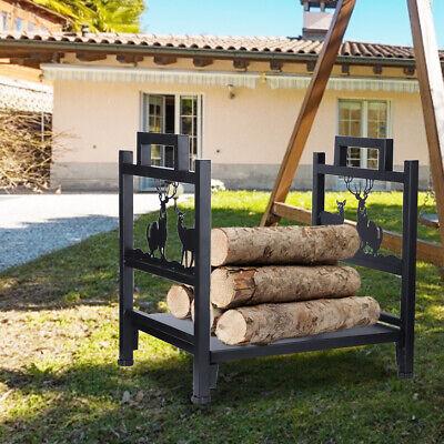 Firewood Rack Wood Storage Log Metal Holder In/Outdoor Fireplace Rack Heavy Duty