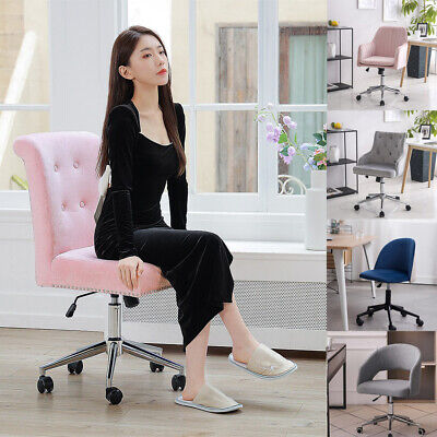 Swivel Chair Home Office Mid Back Computer Task Chairs Makeup Dressing Desk Seat