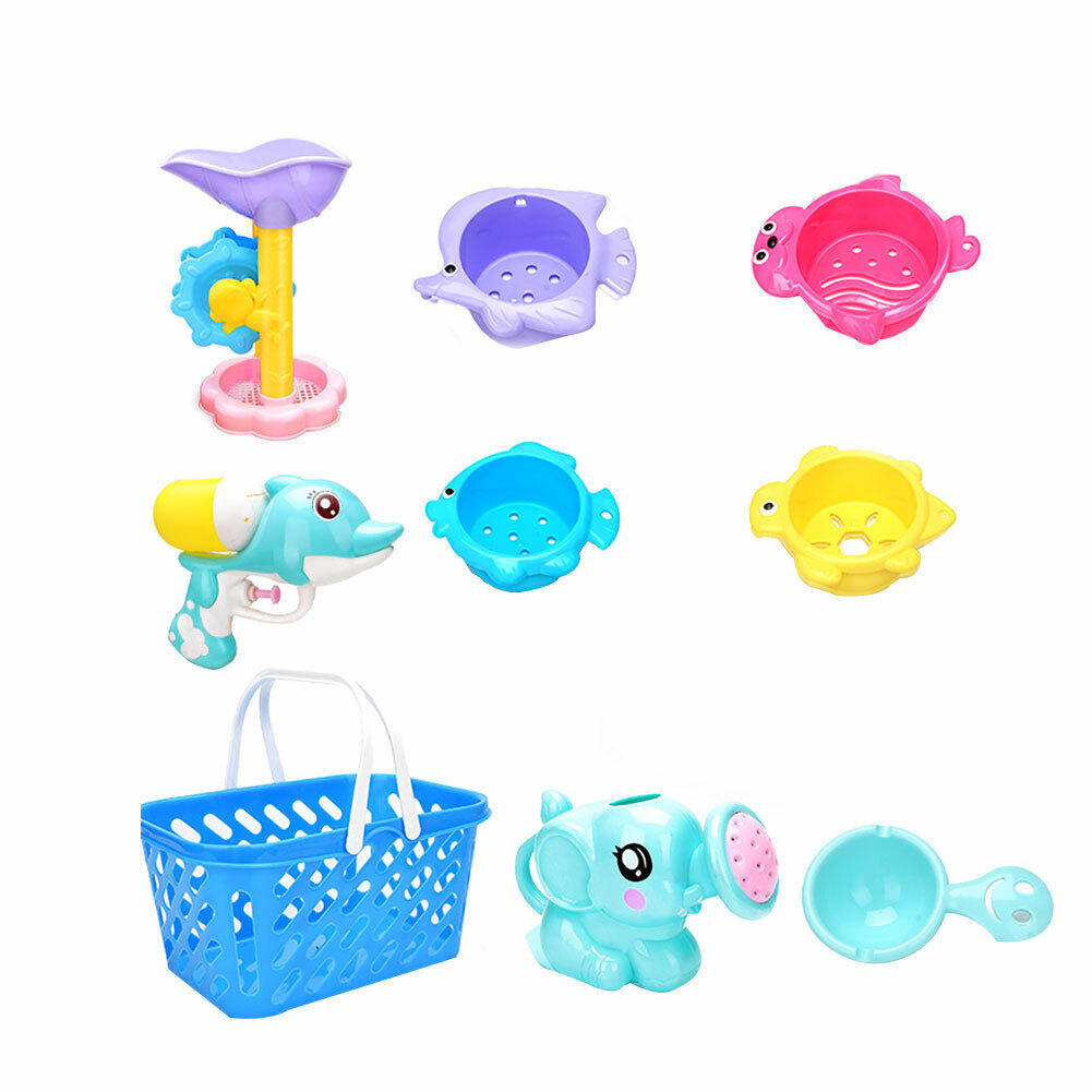 9 PCS Funny Kids Shower Toy Baby Bath Toys for Squirt Toddler Swimming Pool