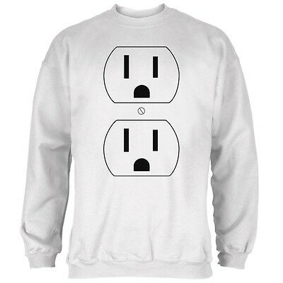 Halloween Outlet Costume White Adult Sweatshirt - Outlet Halloween Costumes