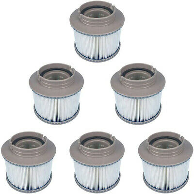 6pcs Hot Tub Filter Cartridges for MSpa Inflateable Spa Pools Blue Sea Elegance