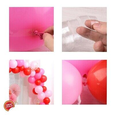 Balloon Arch Kit Garland Tape Decorating Strip Connectors Clips Shiny Ribbon - Balloon Decorating Tape