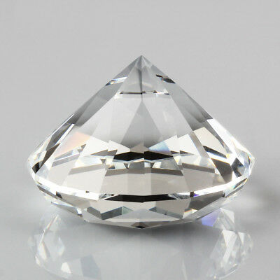 60mm Crystal Clear Cut Glass Paperweight Giant Diamond Jewel Decor Gift