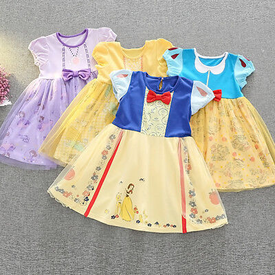 Snow White Toddler Baby Girl Princess Halloween Party Tulle Tutu Dress for Kids](Halloween For Kids Party)