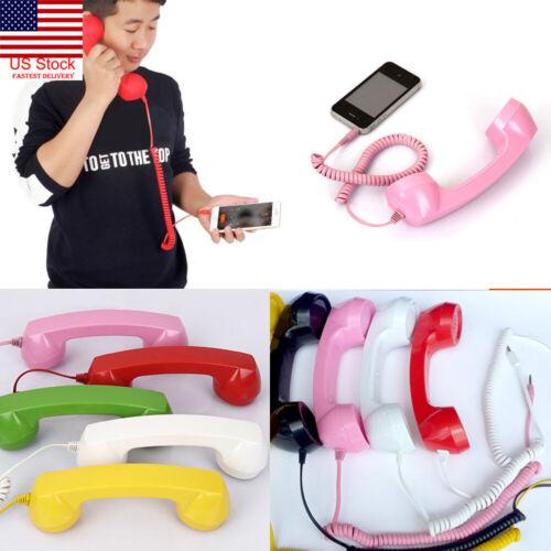 Retro Telephone 3.5mm Retro Handset Earphone Cell Phone Rece