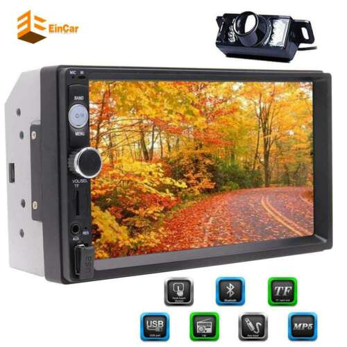 """Car Stereo Radio Double 2 DIN 7"""" HD 1080P MP5 FM Player Touc"""
