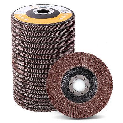4.5 Inch Flap Discs 40 60 80 120 Grit Sanding Grinding Wheels Assorted 20pcs T27