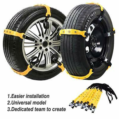 10Pcs Universal Winter Snow Mud Anti-skid Tire Chains Tendon for Car Sedan SUV