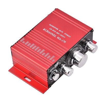 Mini 12V Estéreo Amplificador Música Hogar HiFi USB Dos pares de altavoces