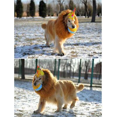Hunde Kostüm Löwenmähne für Große  Hundeschal Perücke Einstellbar Halstuch - Hunde Kostüm Für Weihnachten