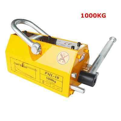 1000kg Steel Magnetic Lifter Heavy Duty Crane Hoist Lifting Magnet  2200lb NEW
