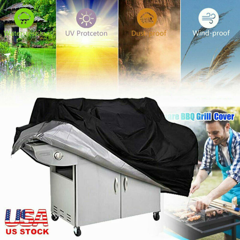 """Heavy Duty BBQ Grill Cover Gas Barbecue Cover Outdoor Waterproof 57"""" 67"""" 75"""""""